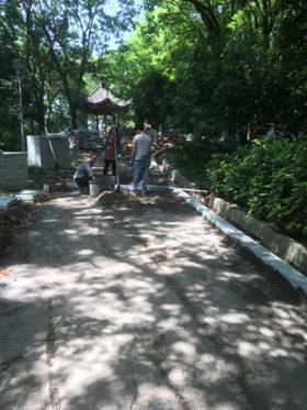 丽水万象山公园正在进行提升改造