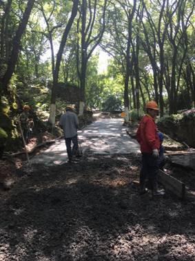 丽水万象山公园正在进行提升改造3